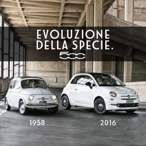 Evolutin of the species 300x300 FIAT 500 parade