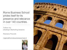 Rome io ROME BUSINESS SCHOOL